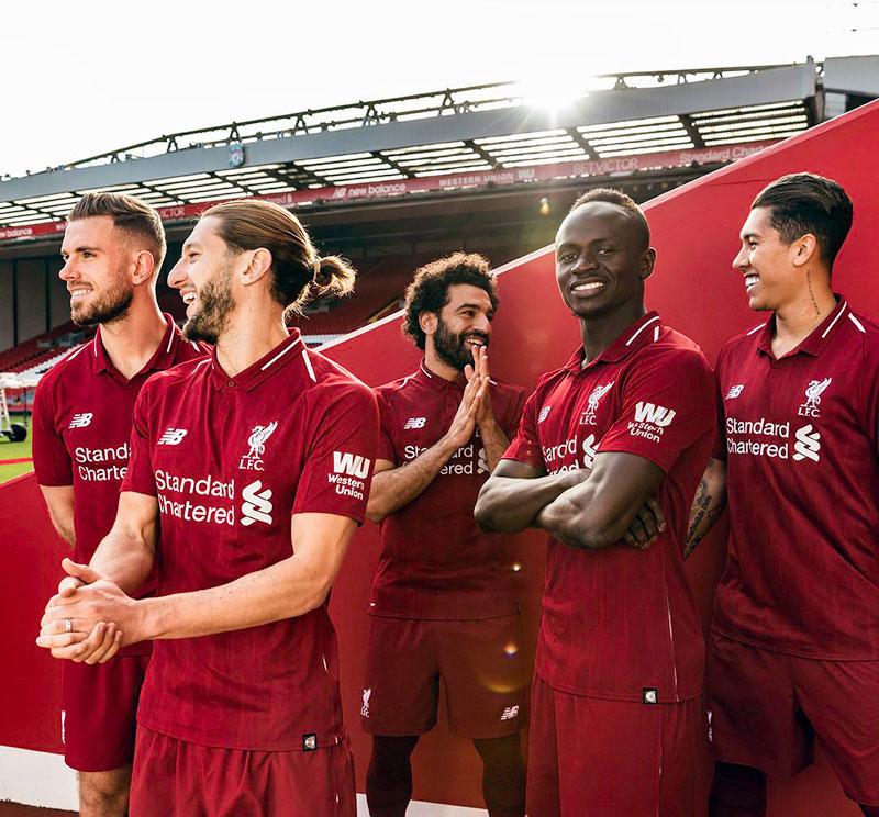 c97fda400ee Liverpool 2018 19  home football kits