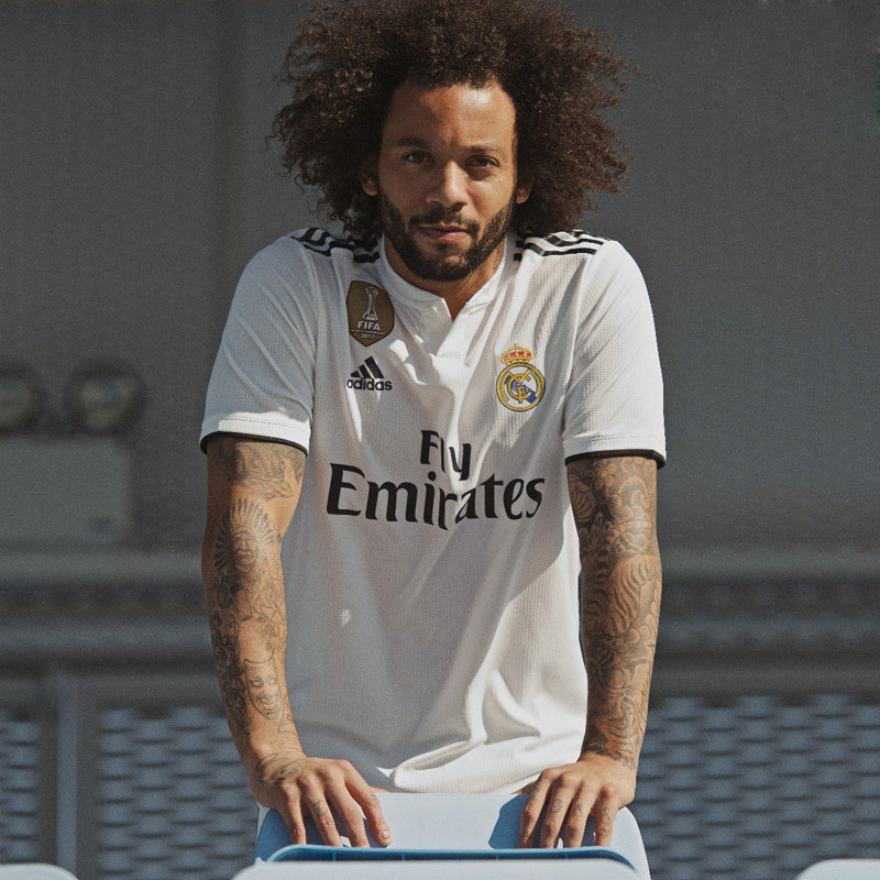 189032336 This Real Madrid 2018-19 Adidas Home Kit pays tribute to the daringly  simple designs of decades past. It s a few shades darker than the vintage  version.