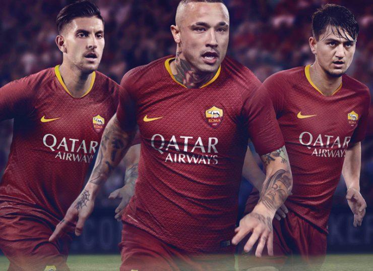 AS Roma 2018-19 Nike Home Kit Football Shirt