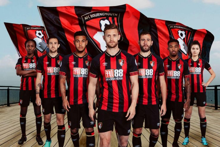 Bournemouth 2018-19 Umbro Home Kit Football Shirt