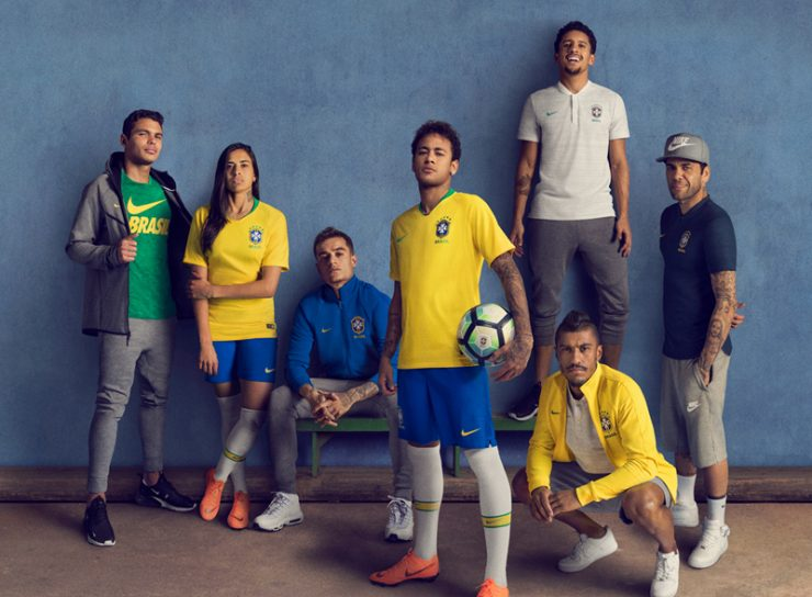 Brazil 2018 World Cup Nike Home Away Kit