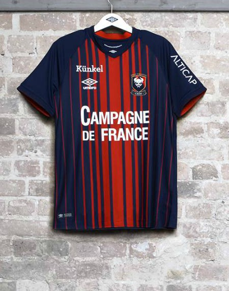 Caen 2018-19 Umbro Home Kit Football Shirt