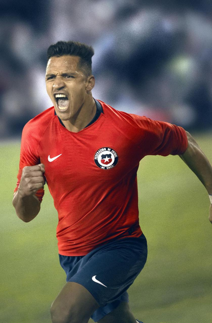 Chile 2018 Nike Home Away Kit Football Shirt