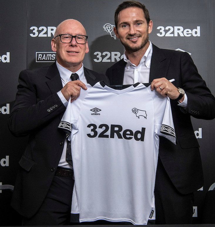 Derby County 2018-19 Umbro Home Kit Football Shirt
