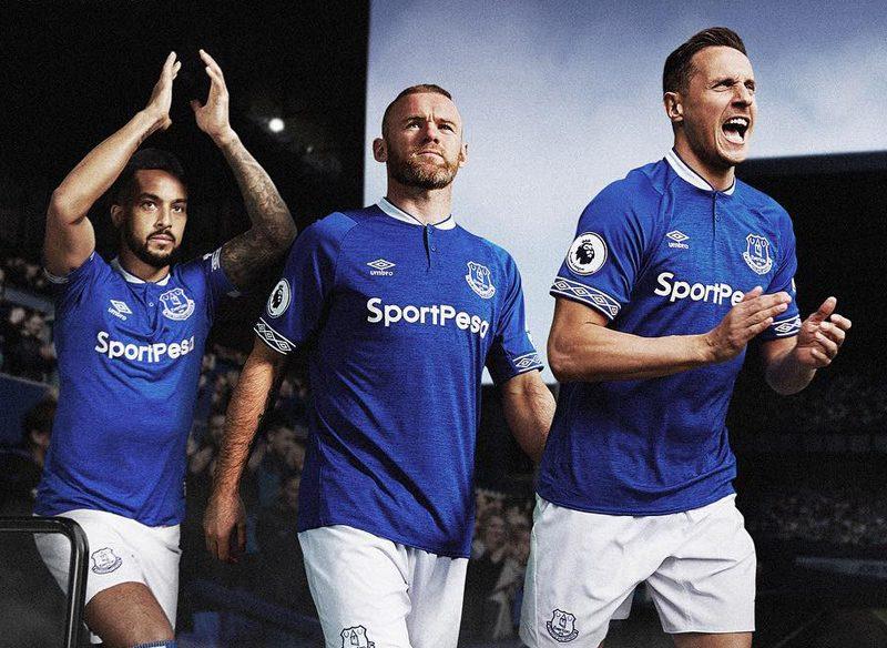b8ae98847 Everton 2018 19 Umbro Home Kit Football Shirts