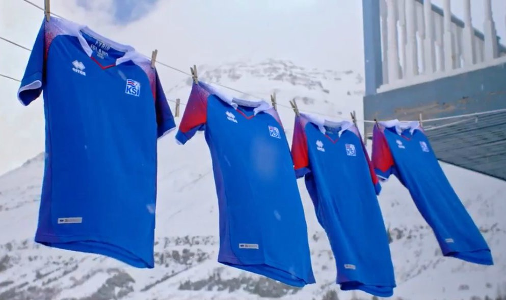 Iceland 2018 World Cup Errea Kits Football Shirts
