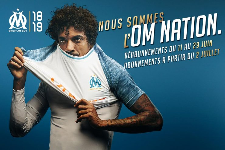 Marseille 2018-19 Puma Home Kit Football Shirt