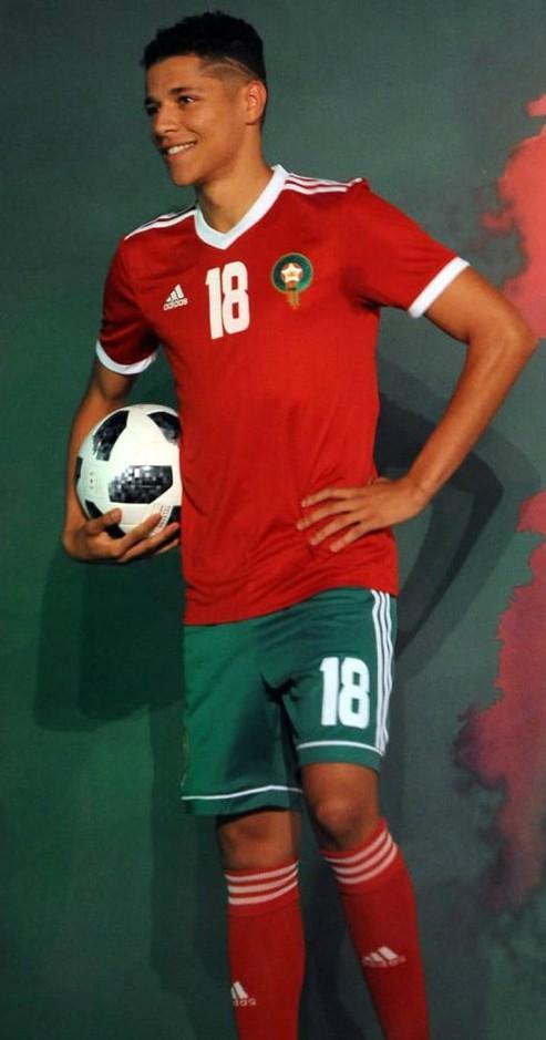 Morocco 2018 World Cup Adidas Home Kit Football Shirt