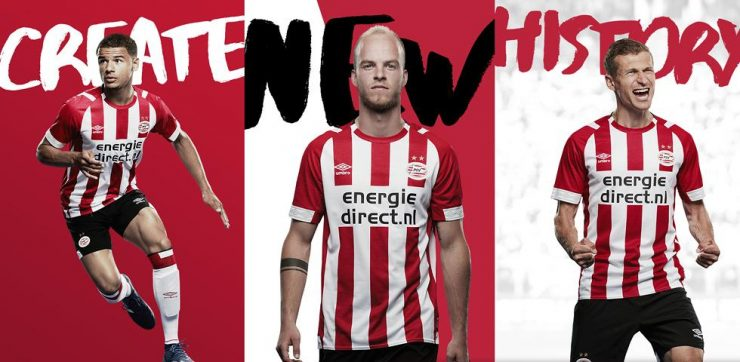 PSV 2018-19 Umbro Home Away Kit Football Shirt