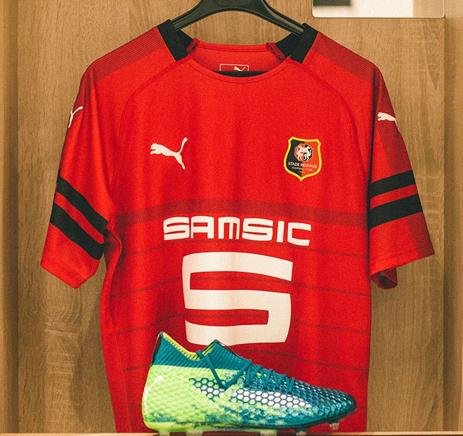 Rennes 2018-19 Puma Home Kit Football Shirt