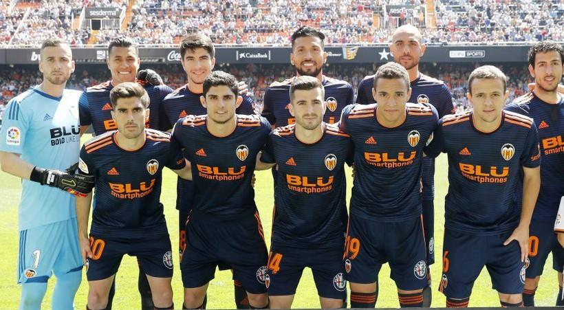 Valencia 2018-19 Adidas Away Kit Football Shirt