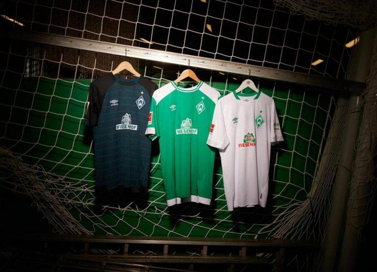 Werder Bremen 2018-19 Umbro Home Away & Third Kits