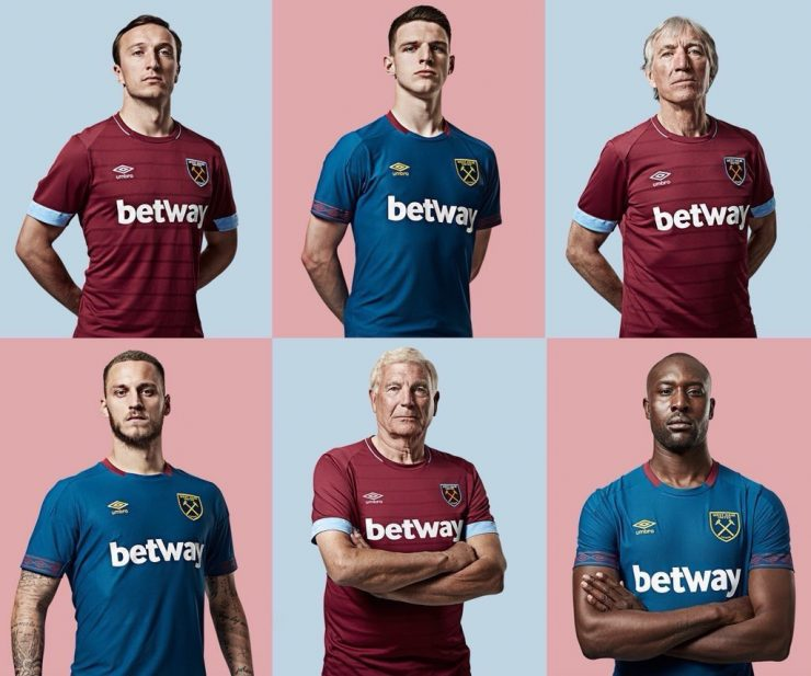 West Ham United 2018-19 Umbro Home and Away Kit