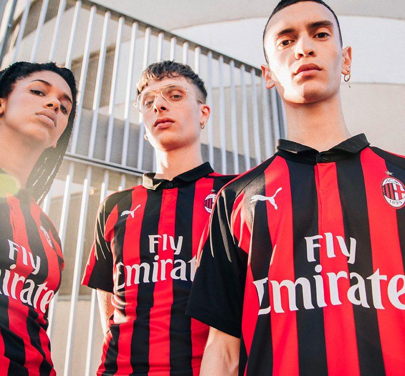 AC Milan 2018-19 Puma Home Kit Football Shirt