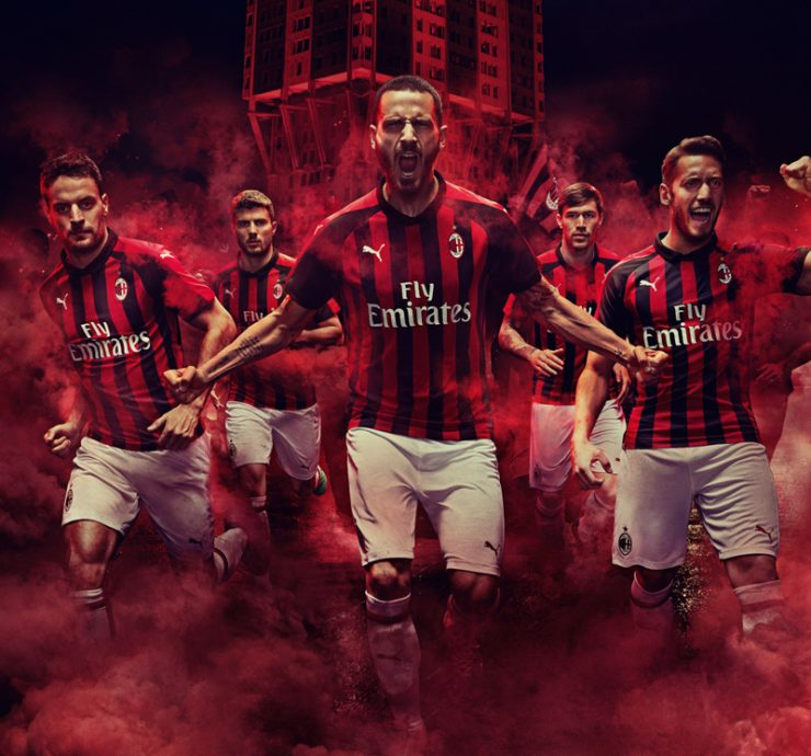 AC Milan 2018-19 Puma Home Kit Football Shirt