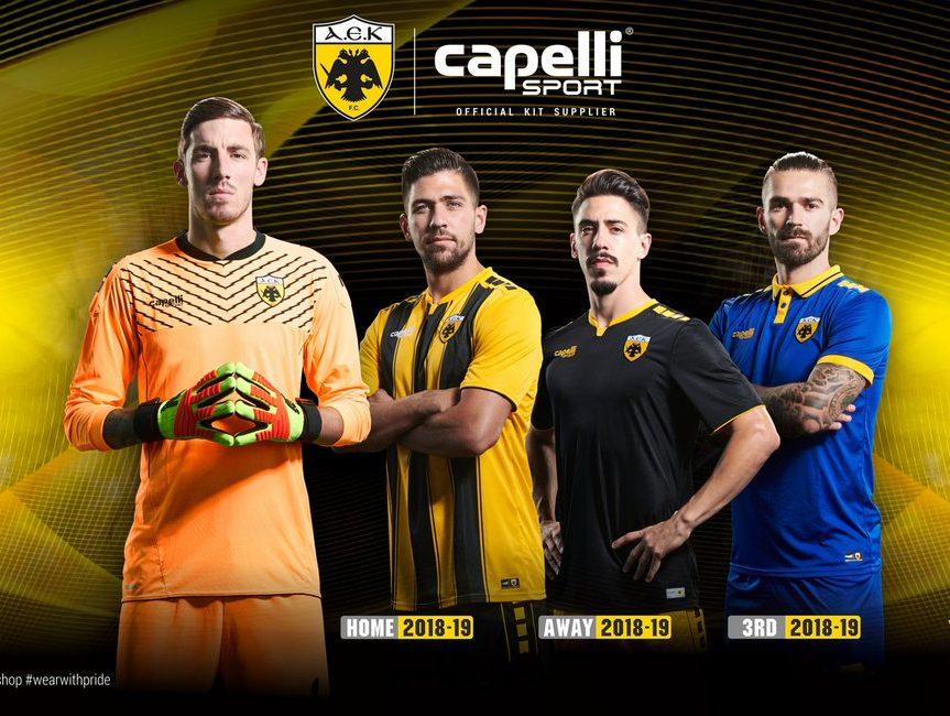 AEK Athens 2018-19 Home, Away & Third Kits