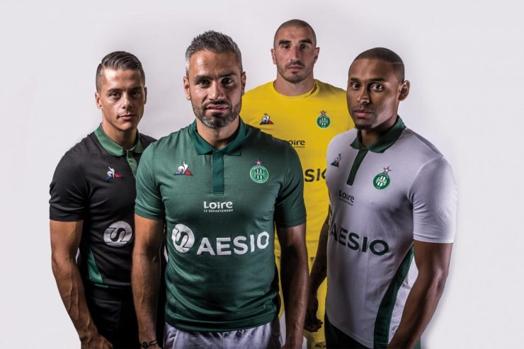 AS Saint-Etienne 2018-19 Le Coq Sportif Home, Away & Third Kits