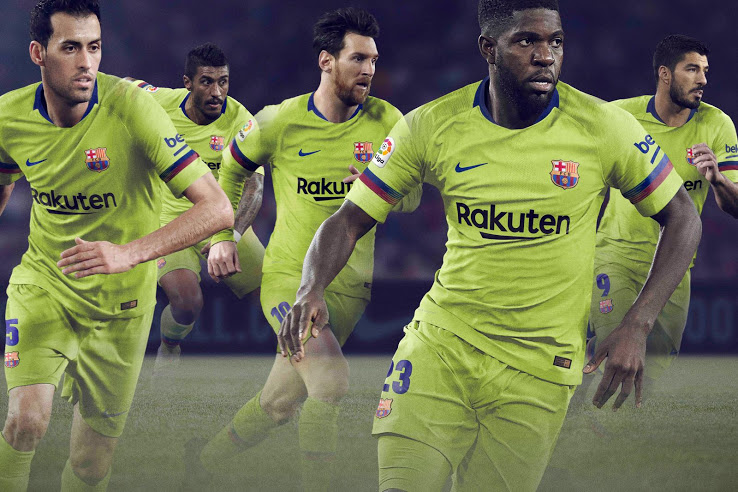 Barcelona 2018-19 Nike Away Kit Football Shirt