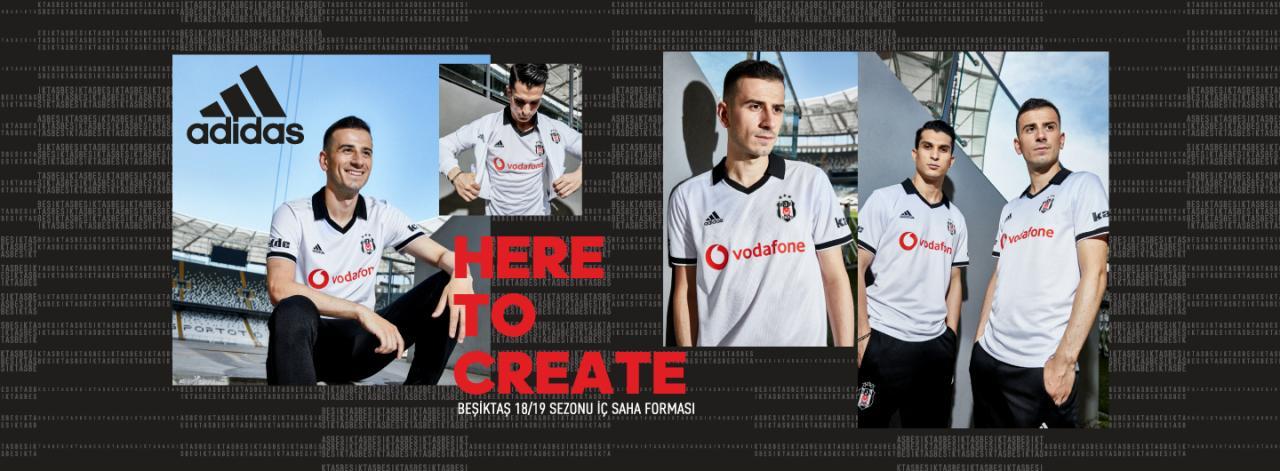 Besiktas 2018-19 Adidas Home, Away & Third Kits