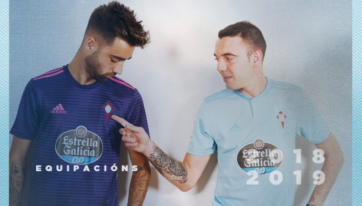Celta de Vigo 2018-19 Adidas Home Kit Football Shirt