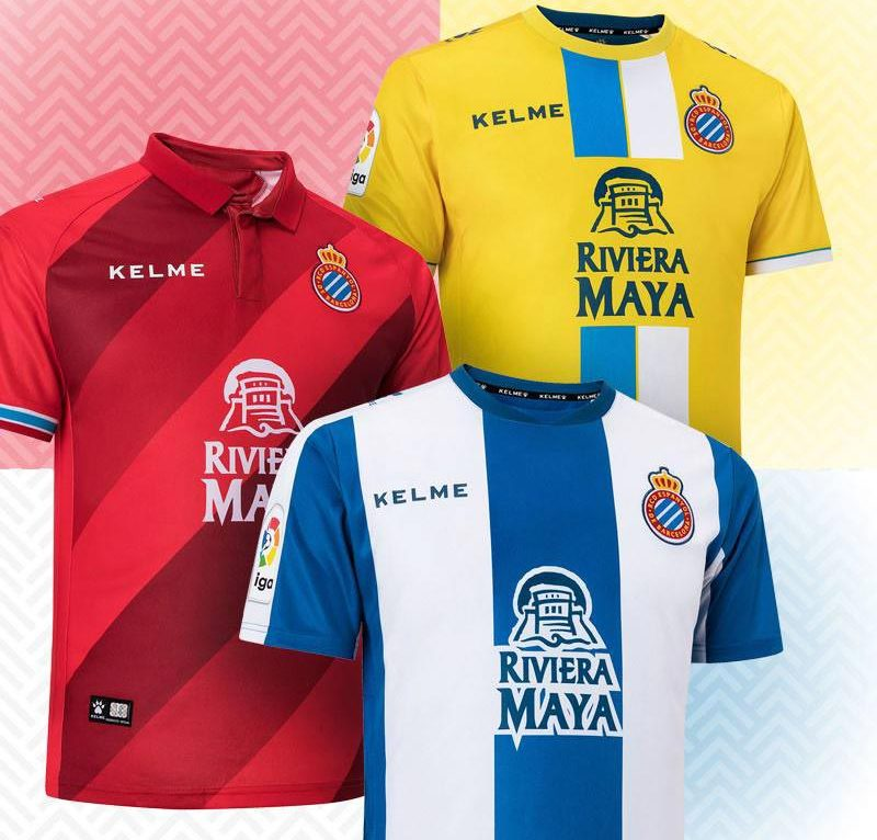 Espanyol 2018-19 Kelme Home, Away & Third Kits