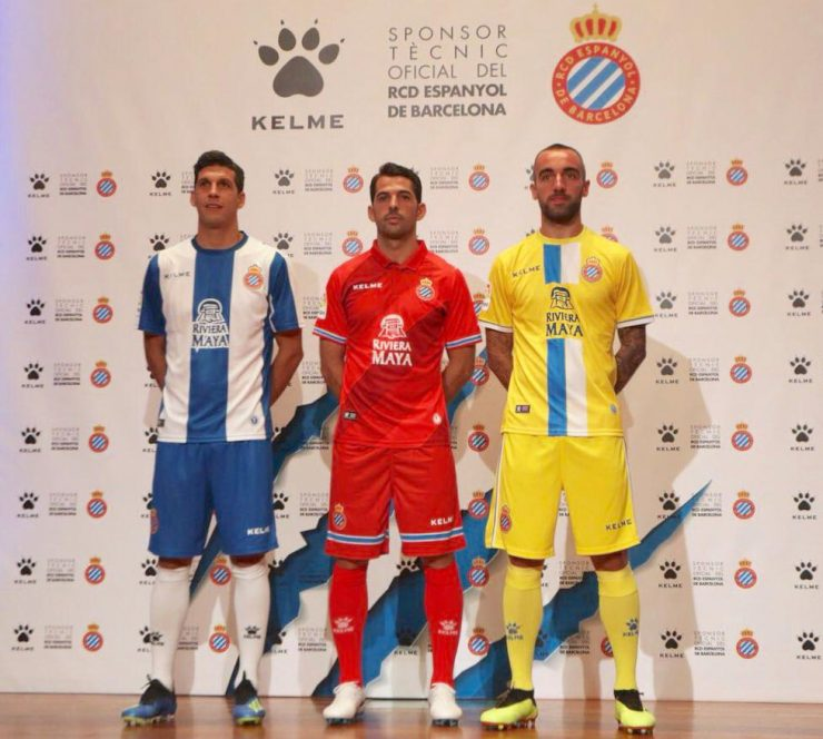 Espanyol 2018-19 Kelme Home, Away & Third Kits