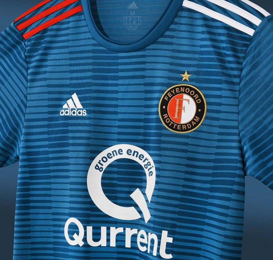 Feyenoord 2018-19 Adidsa Away Kit Football Shirt