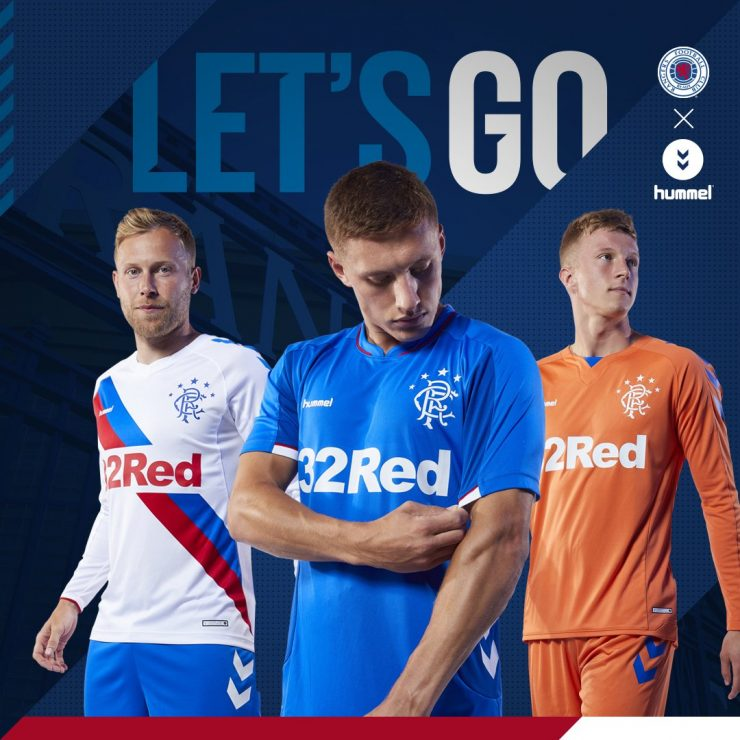 Glasgow Rangers 2018-19 Hummel Home Away & Third Kits