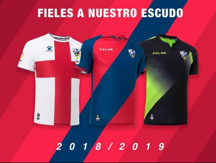 Huesca 2018-19 Kelme Home, Away & Third Kits