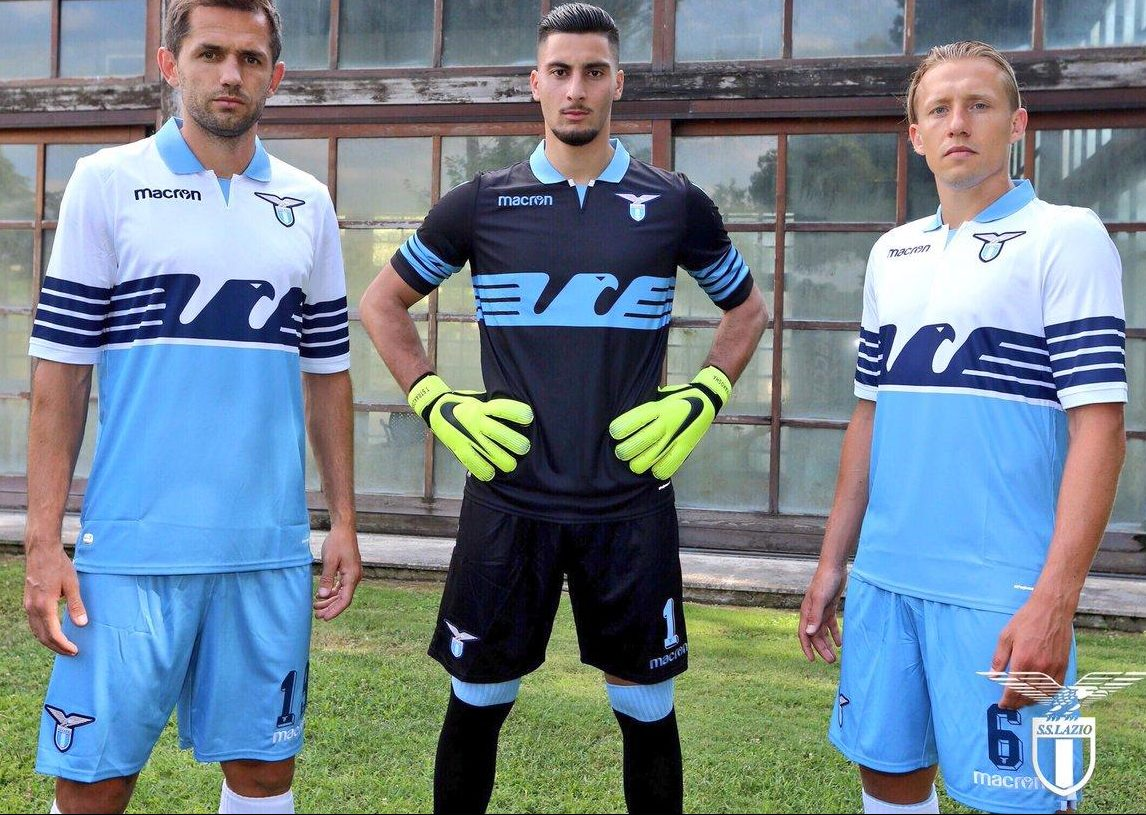 Lazio 2018-19 Macron Home Kit Football Shirt