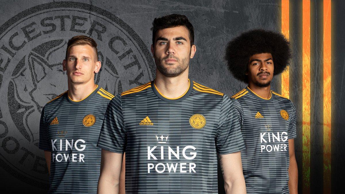Leicester City 2018-19 Adidas Away Kit Football Shirt