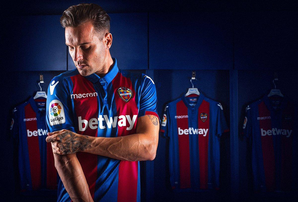 Levante 2018-19 Macron Home Kit Football Shirt