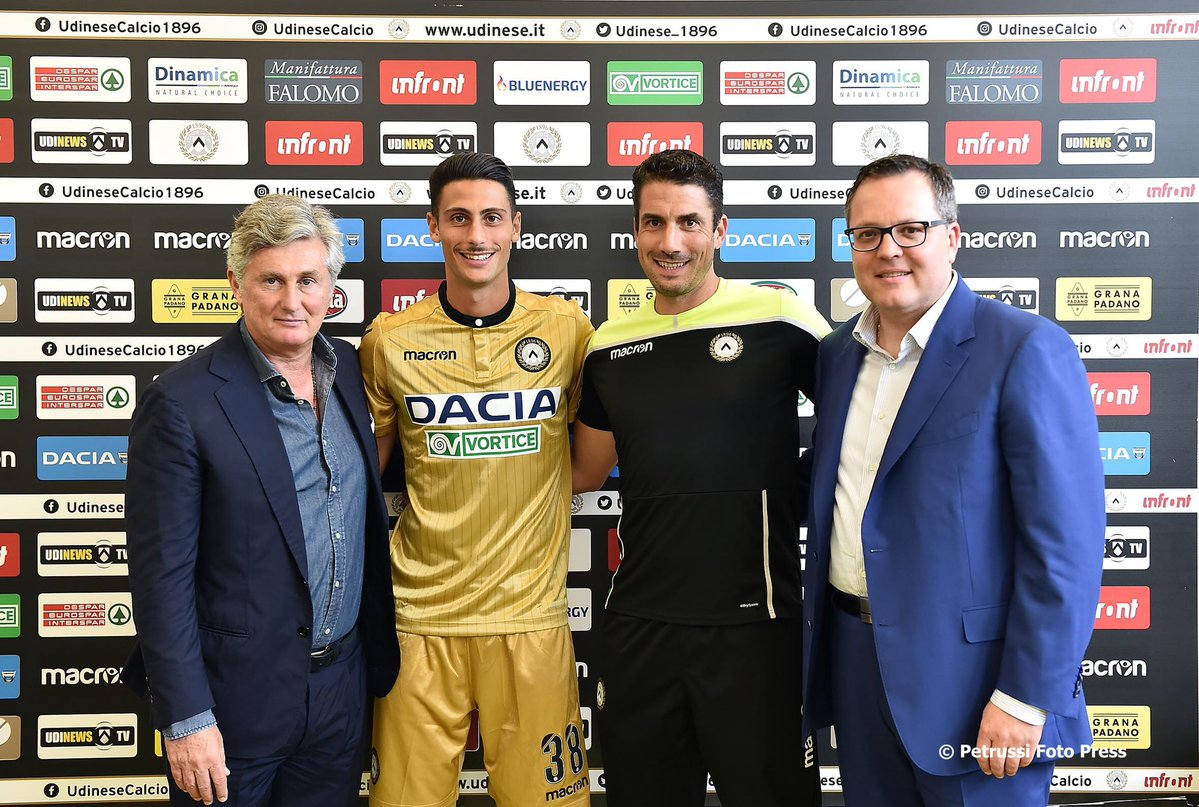 Metallic Gold Udinese Calcio 18-19 Away Kit