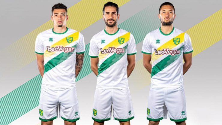 Norwich City 2018-19 Errea Away Kit