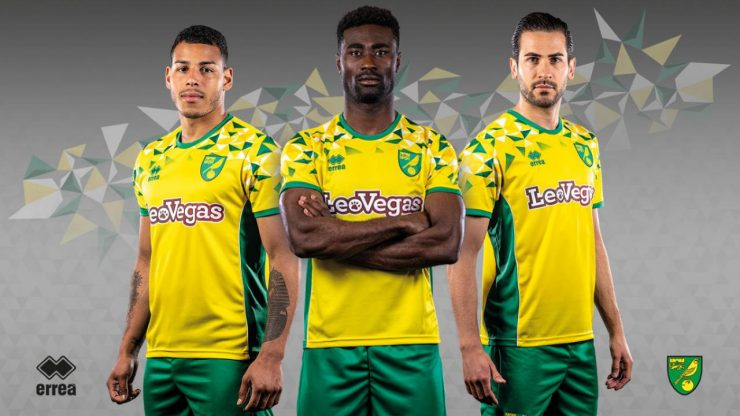 Norwich City 2018/19 Errea Home Kit Football Shirt