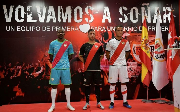 Rayo Vallecano 2018-19 Home, Away & Third Kits
