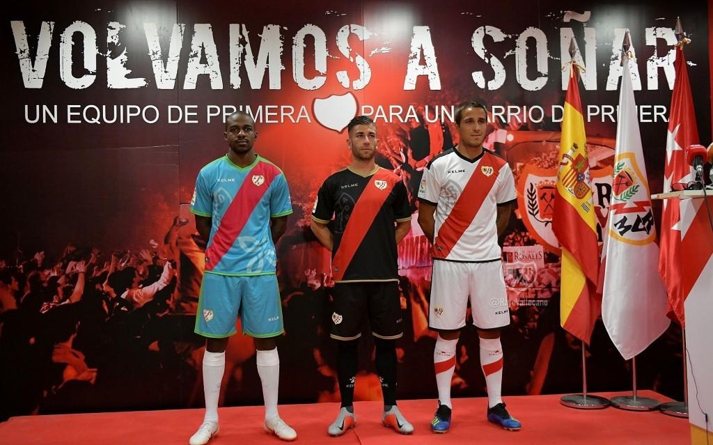 Rayo Vallecano 2018-19 Home, Away & Third Kits