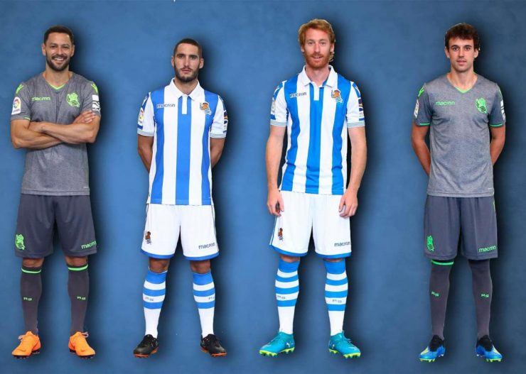Real Sociedad 2018-19 Macron Home & Away Kits