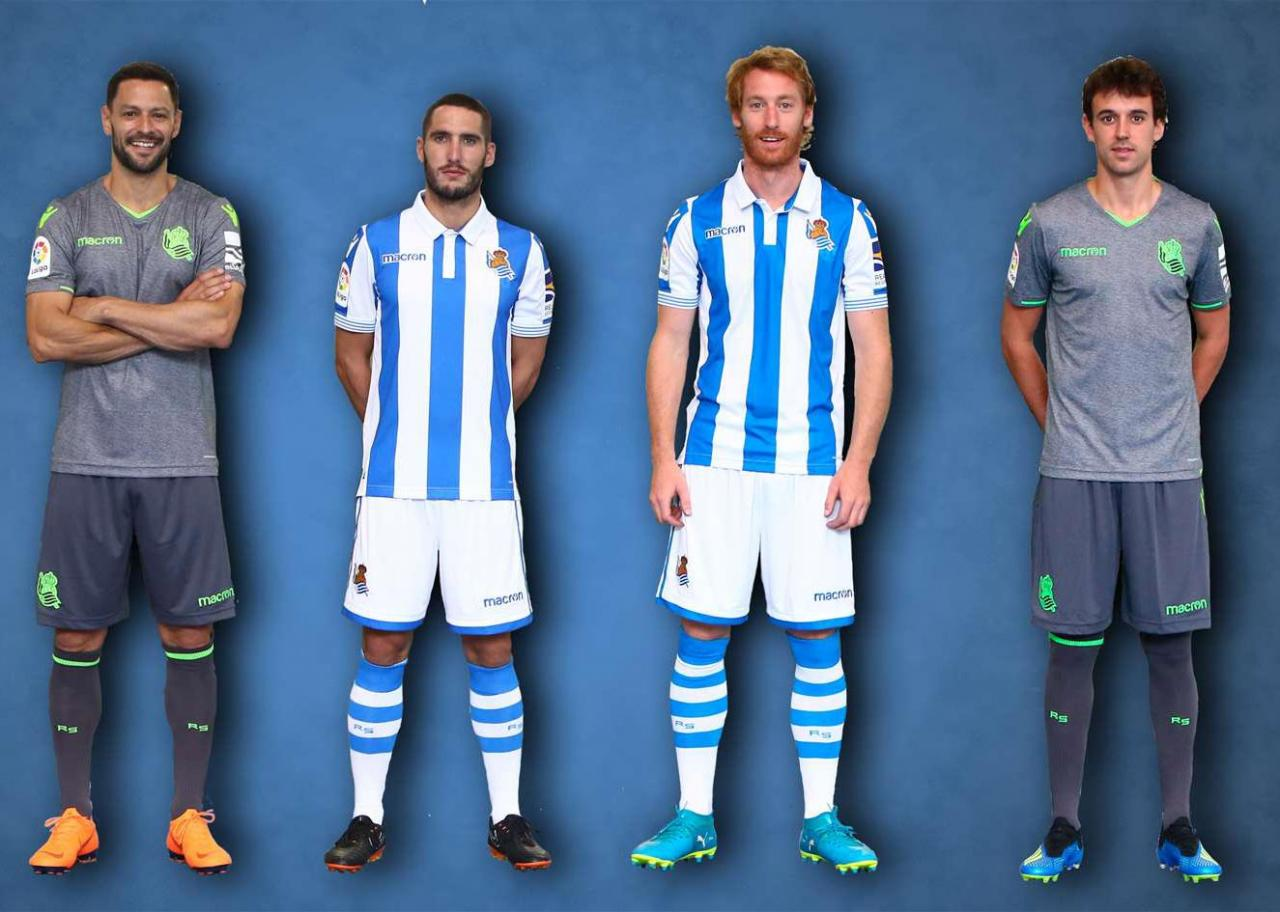 Real Sociedad 2018-19 Macron Home   Away Kits c2bda9268