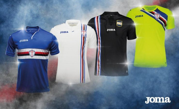 Sampdoria 2018-19 Joma Home Away & Third Kits