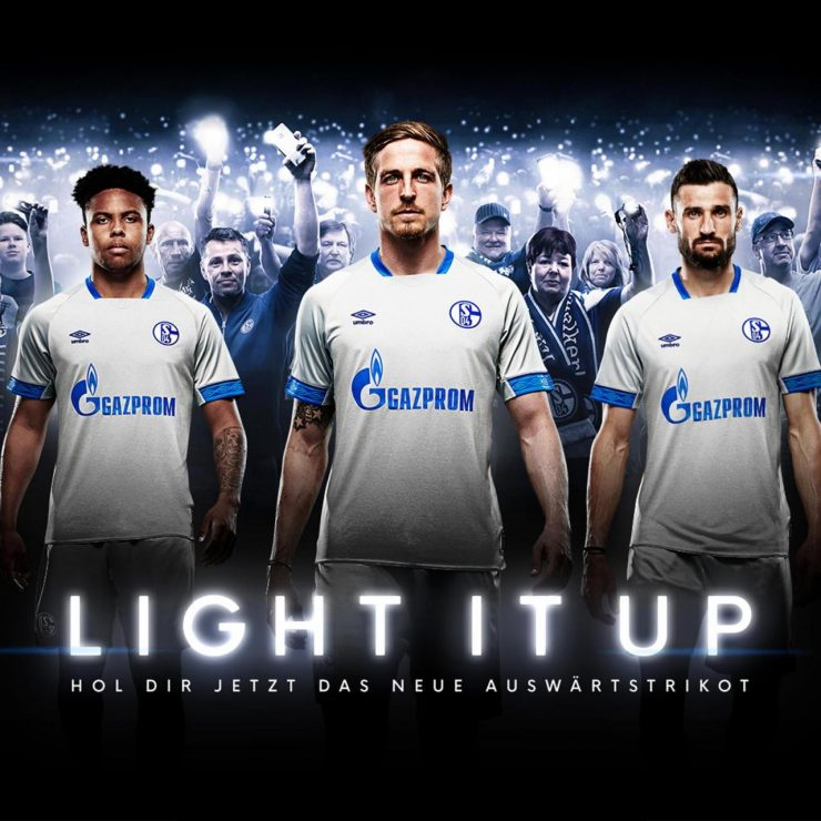 Schalke 2018-19 Umbro Away Kit Football Shirt