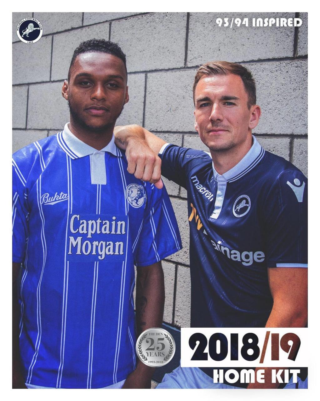 Millwall 2018-19 Home & Away Kit