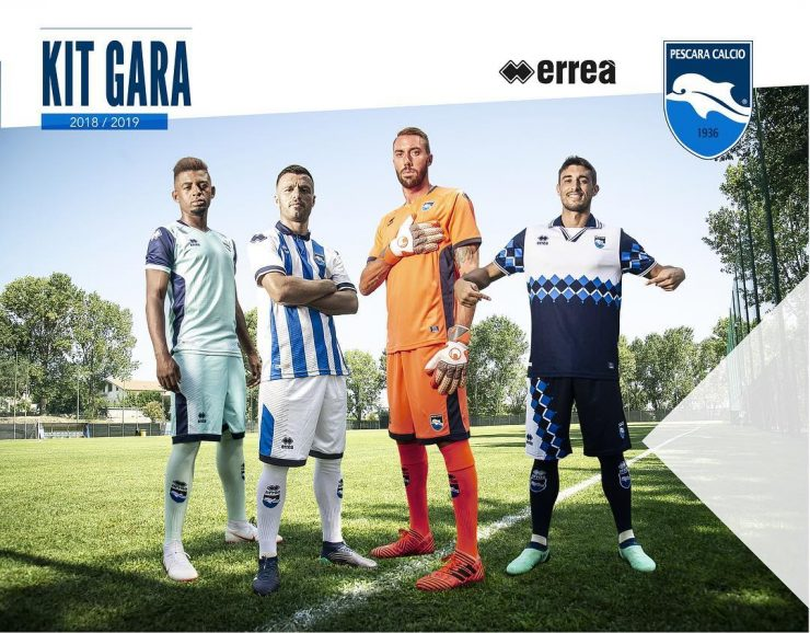 Pescara Calcio 2018-19 Home, Away, Third Kit