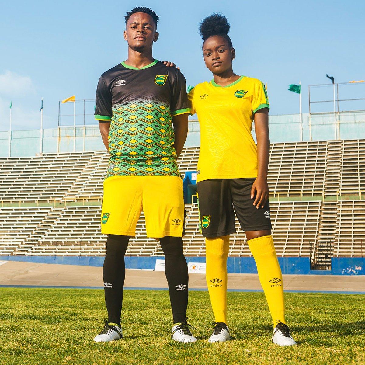 Jamaica 2018-19 Umbro Home And Away Kit