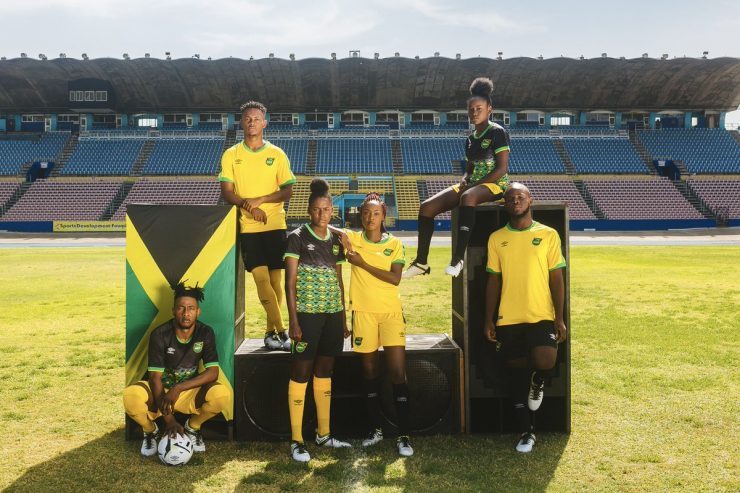 Jamaica 2018-19 Umbro Home And Away Kit